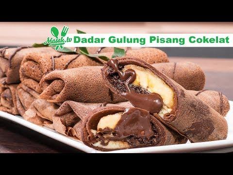 Resep Dadar Gulung Pisang Cokelat - Crepe Banana Choco Roll Recipe
