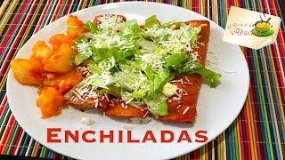 Enchiladas rojas con papas receta super rica y facilisima