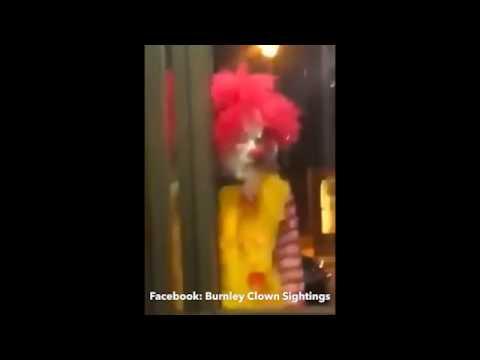 Menacing Ronald McDonald style clown scares diners at Ewood Mcdonald's