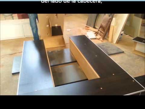Armado cama fucional con cajoneras youtube - Hacer una cama de madera ...