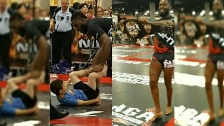 Jon Jones Competes In A Grappling Match At Europa Expo Phoenix