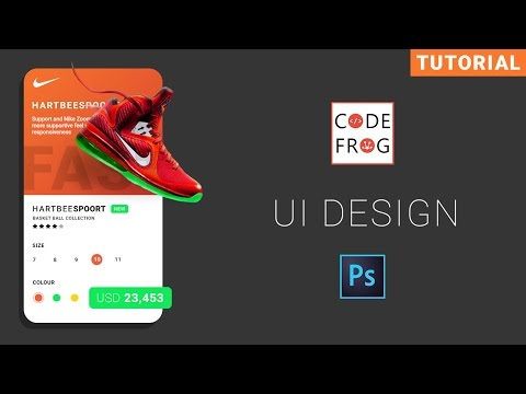 UI Design Tutorial - Product Card  | Photoshop thumbnail