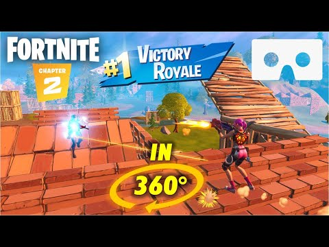 Fortnite In 360° - Victory Royale Gameplay In VR 360 - Fortnite Chapter 2