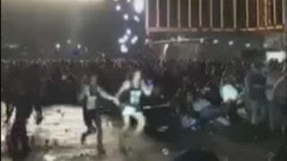 Graphic content: Chaos as gunfire rakes Las Vegas concert
