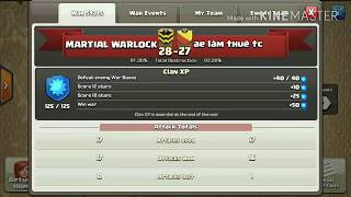 MARTIAL WARLOCK | BEST DEFENSE OF WAR TH11 ON TH10 BY COC | CLASH OF CLANS