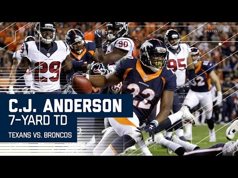 C.J. Anderson Scores 1st TD of the Game! | Texans vs. Broncos | NFL