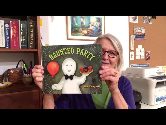 IZA TRAPANI READS HAUNTED PARTY- for teachers, parents and children. When you hear tone, turn page
