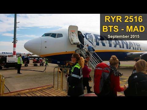 Flight Experience | Bratislava - Madrid | RYANAIR Full Flight