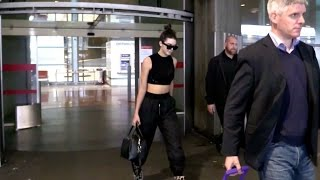 EXCLUSIVE ( NO PICS) : Kendall Jenner arriving at Paris airport for the 2016 Paris Fashion Week