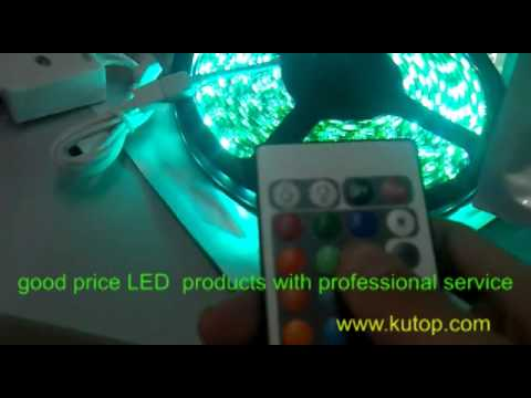 test of rgb led strip lights with ir controllers youtube. Black Bedroom Furniture Sets. Home Design Ideas