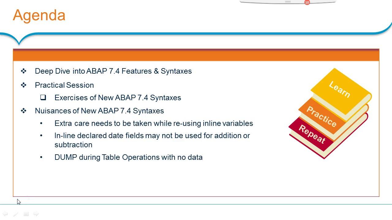 Free SAP ABAP 740 Video Training |