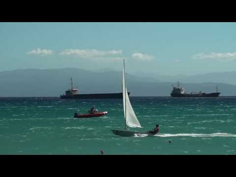 High Wind Laser Sailing - 18 Knots!