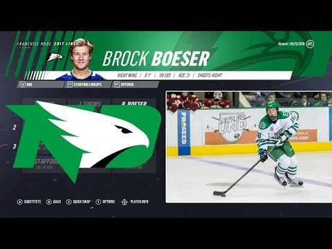 HOW GOOD IS A TEAM OF NORTH DAKOTA ALUMNI? - NHL 19