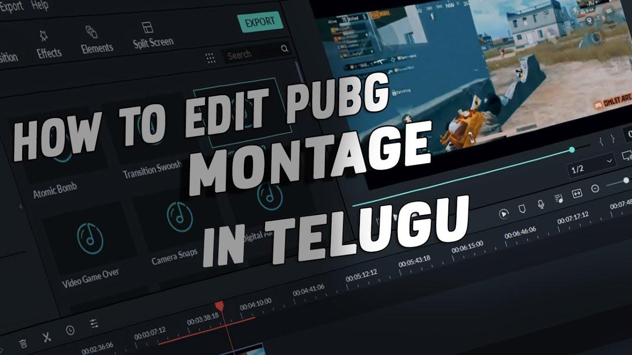 How TO Edit Pubg Montage Video  In  Telugu