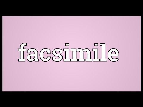 Facsimile Meaning