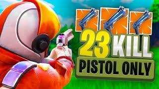 INSANE 23 KILL Pistol *ONLY* Fortnite Gameplay