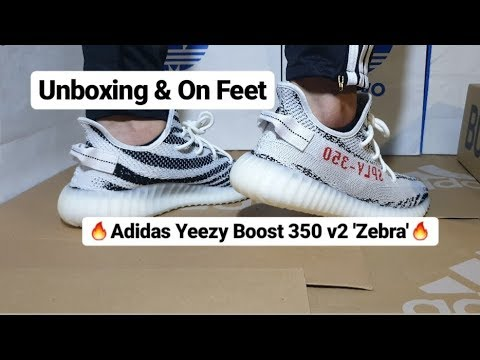 dc539a296 RESTOCK! Adidas Yeezy Boost 350 V2  Zebra  November 2018 - YouTube