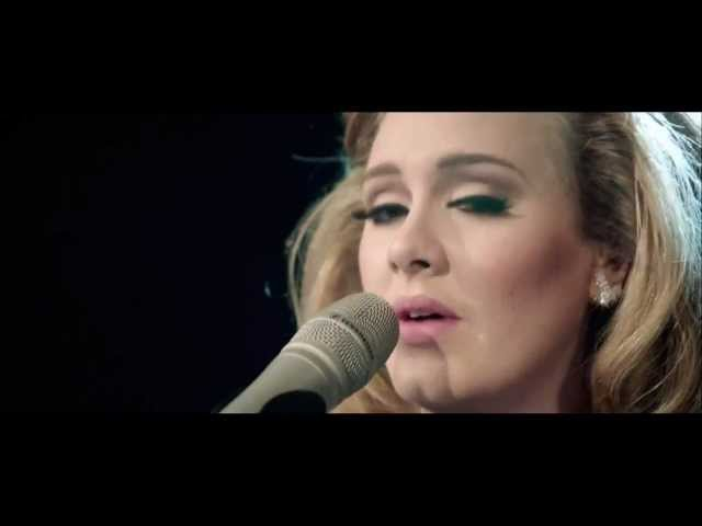 Adele cries for Someone like you.