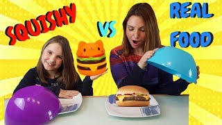 real vs squishy challenge