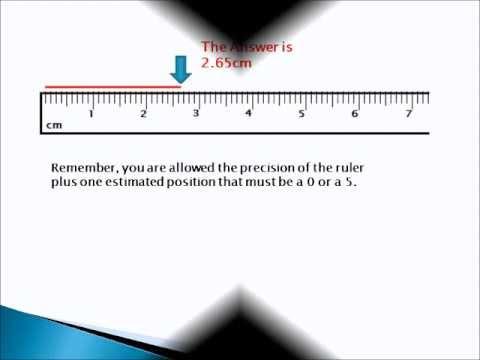 cm on a ruler