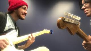 Berklee Guitar private lesson / Working funk groove with my student / Tomo Fujita