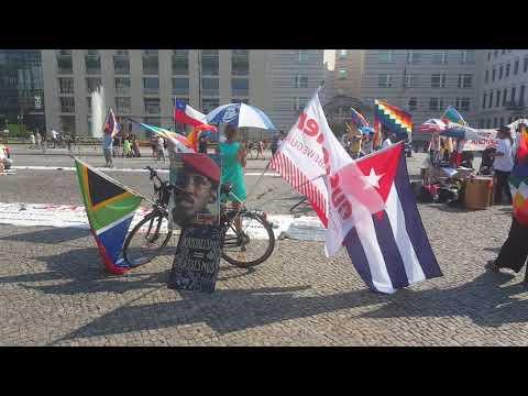 Frente Unido America Latina Berlin - 8.8.2020 Eindrücke der Veranstaltung am Brandenburger Tor