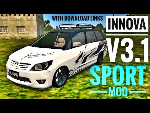 Innova V3 1 Sport Mod In Bus Simulator Indonesia With Livery And Mod Download Links Youtube