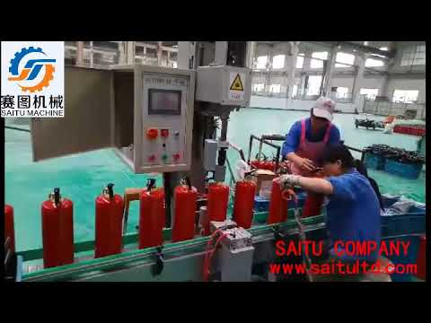 semi automatic dry powder fire extinguisher filliing and assembling line