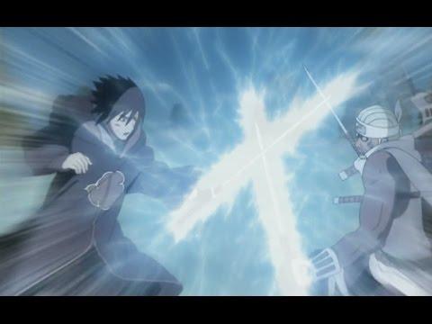 Killer Bee vs Sasuke  Full Fight English Dub