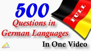 Learn German │ Top 500 Questions │Full│in one video