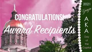 Congratulations, AKA Georgia Day at the Capitol Award Recipients!