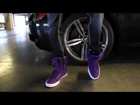 "Supra TK Society ""Purple/Royal"" On Feet"