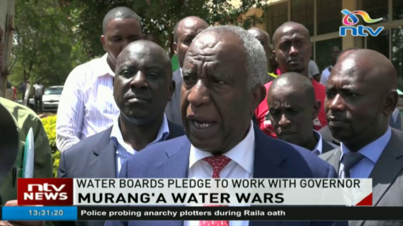 Stalemate between Murang'a government and water companies to end