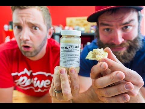 NASAL NAPALM!! | Extremely Hot Horseradish!