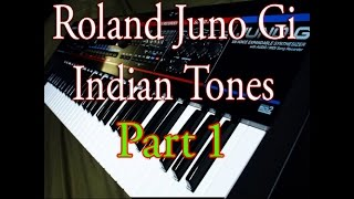 Roland Juno Gi Indian tones demo part 1