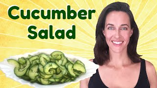 Recipe Demo: Cucumber Salad - Summer Snack - Vegetable Dish With Dill - Vegan