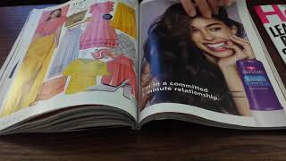 ASMR Page turning slowly, gently through InStyle & Health magazines April 2018 issues. NO WHISPER