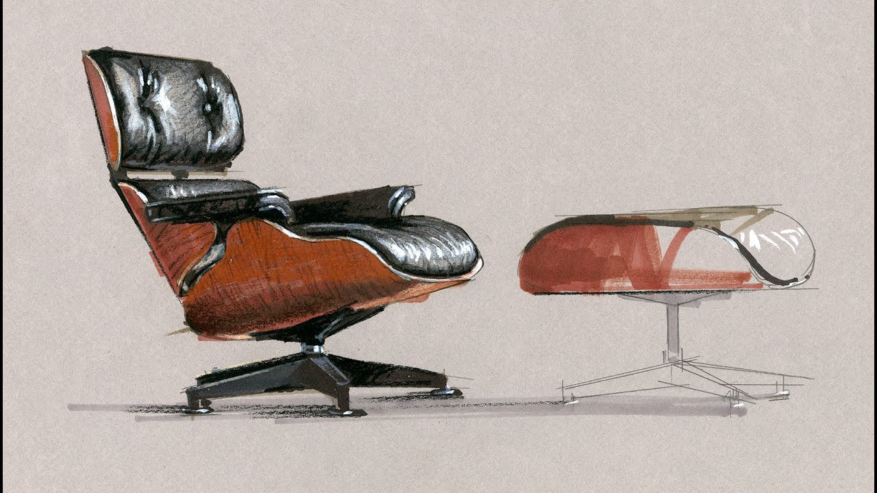 Tutorial Freehand Rendering Eames Chair Short4x 6 Min