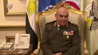 فيديو.. وزير الدفاع يلتقي وفدا أمريكيا