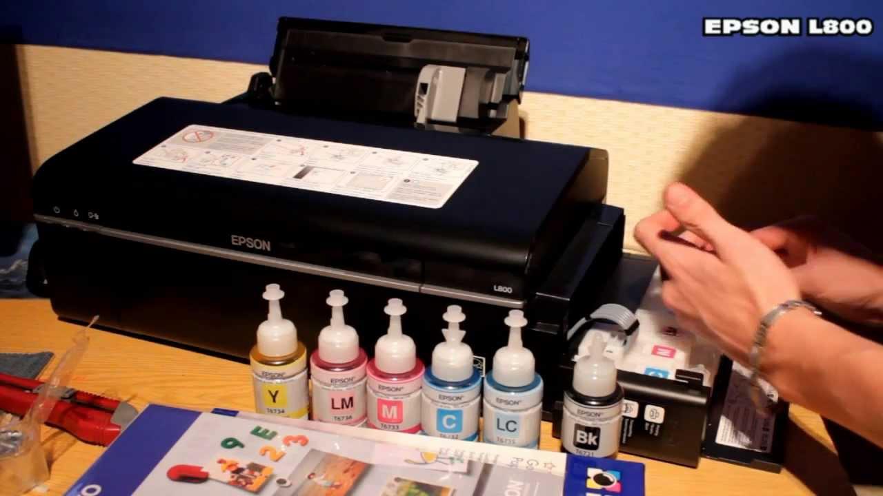 Epson L805 printer review - YouTube