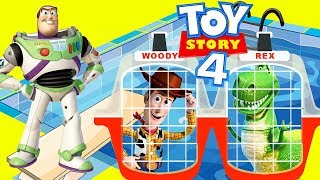 Woody and Buzz's Toy Story 4 Jail Rescue Adventure in Swimming Pool