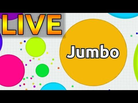 Jumbo Agar.io LiveStream - Trolling People in Agario LIVE with Jumbo Army #1