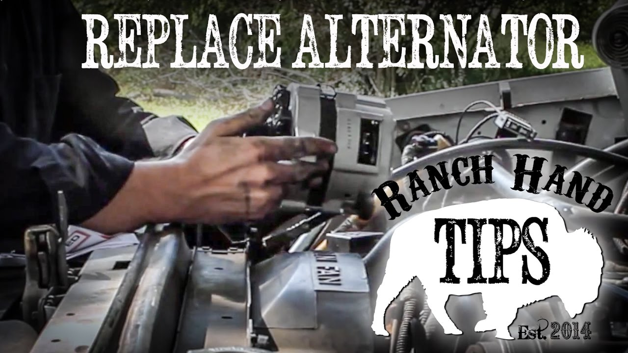 Ford Truck F150f250f350 Alternator Replacement Ranch Hand Tips F 150 Wiring Diagram 1972 V8