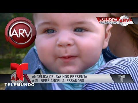 Angélica Celaya presentó a su bebé  Al Rojo Vivo  Telemundo