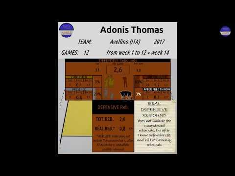 2017 g1-12 + g14 THOMAS ADONIS easy defensive rebound