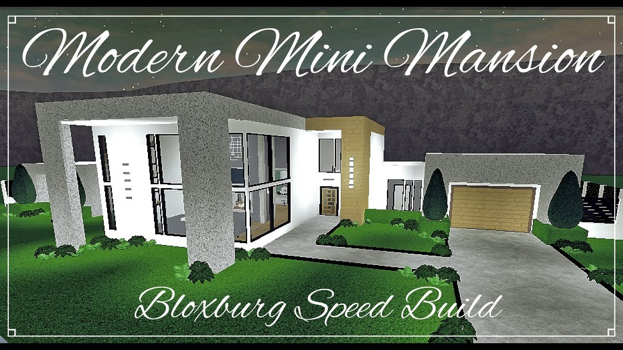 Bloxburg modern mini mansion speed build youtube for Build a house for 150k