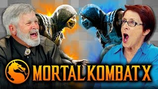 ELDERS PLAY MORTAL KOMBAT X (Elders React: Gaming) thumbnail