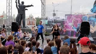 Шоу Танцы в Новосибирске.  Площадь Ленина