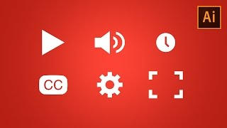 Learn How to Draw Video Player Icons in Adobe Illustrator   Dansky