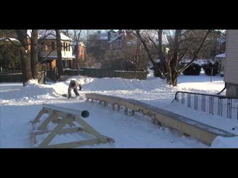 Backyard Snowboard Park YouTube - Backyard snowboarding